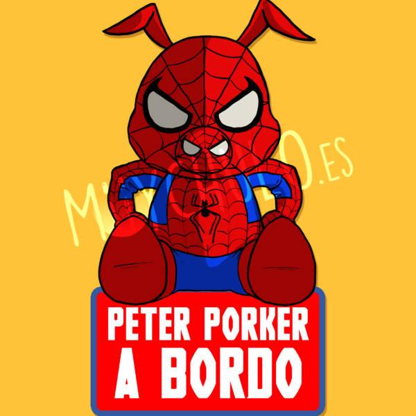 Pegatina Peter Porker PETER PORKER A BORDO