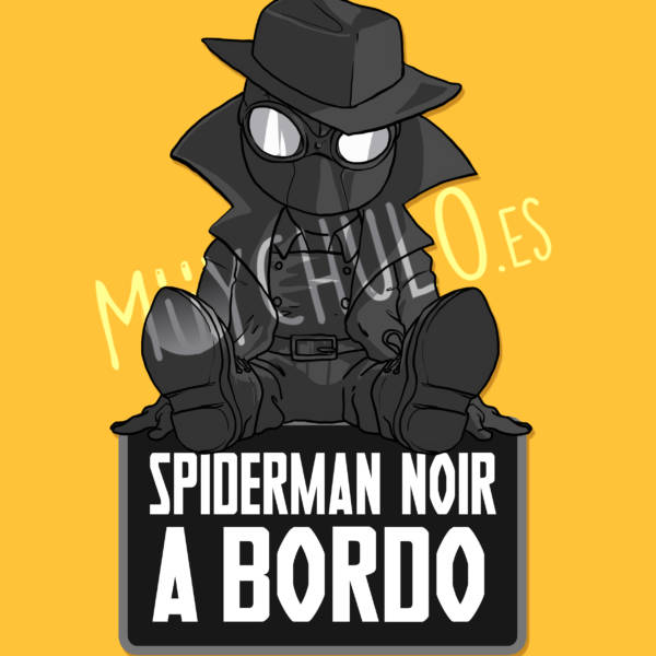 Pegatina Spiderman Noir SPIDERMAN NOIR A BORDO