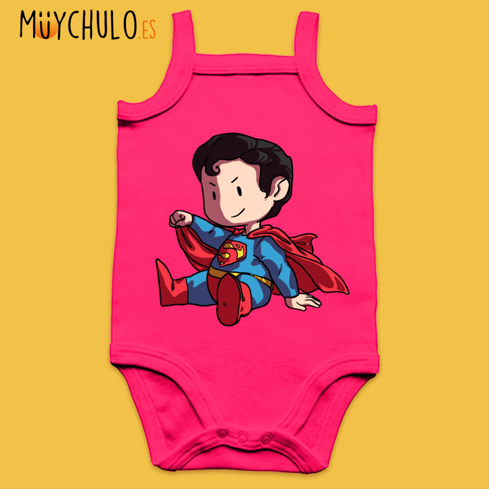 Body de tirantes mini Superman