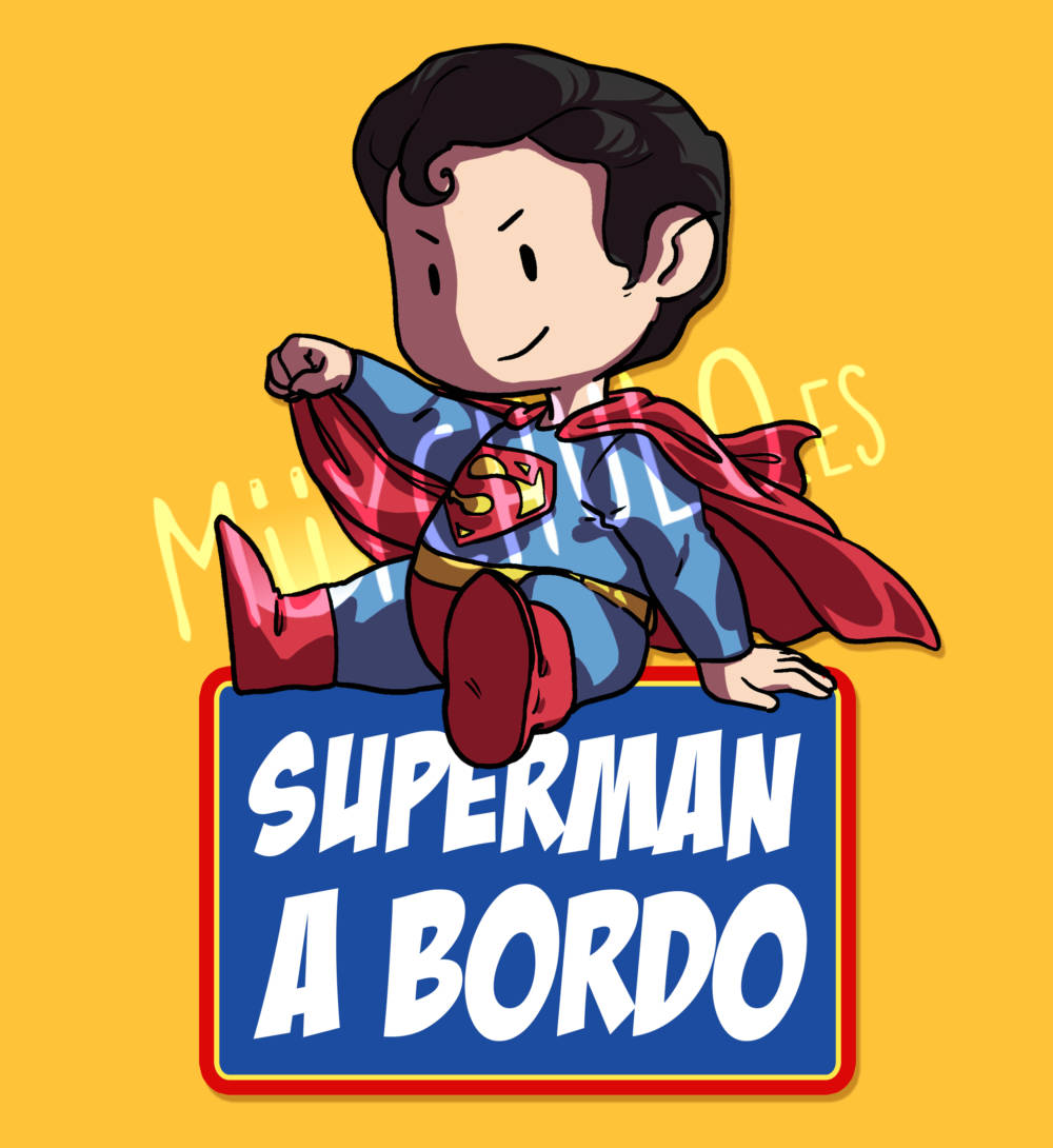 Pegatina Superman SUPERMAN A BORDO