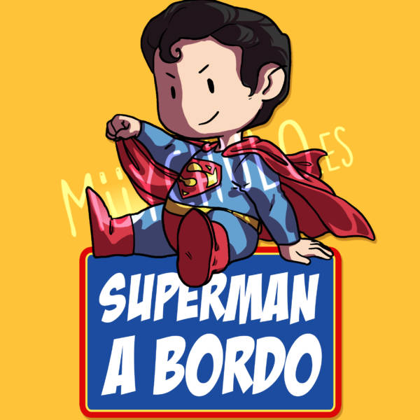 Pegatina Superman SUPERMAN A BORDO