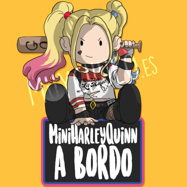 Pegatina Harley Quinn MiniHARLEYQUINN A BORDO