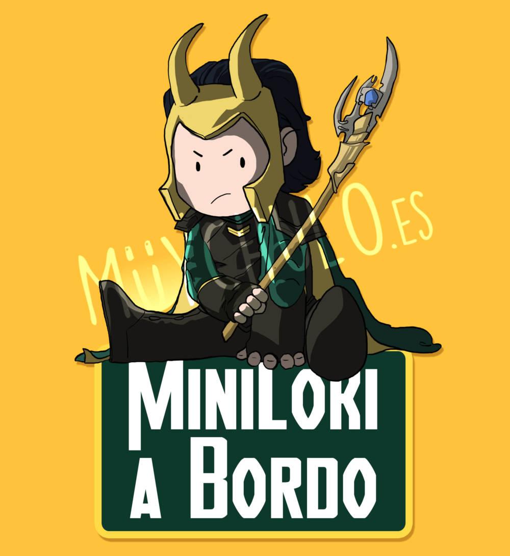 Pegatina Loki MiniLOKI A BORDO