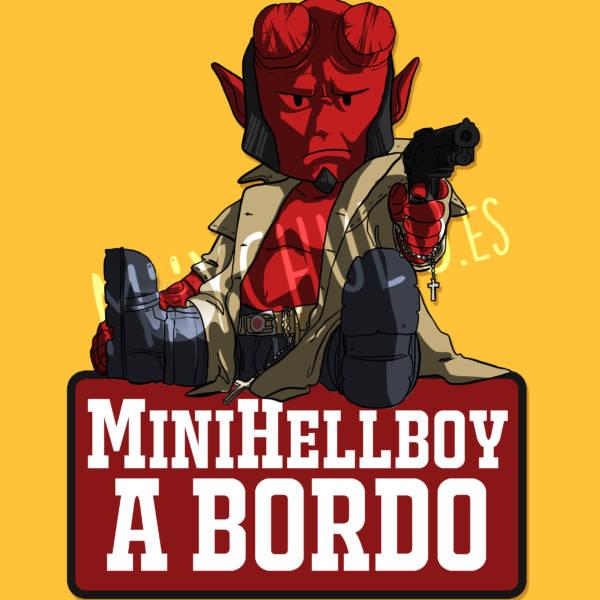 Pegatina Hellboy MiniHELLBOY A BORDO