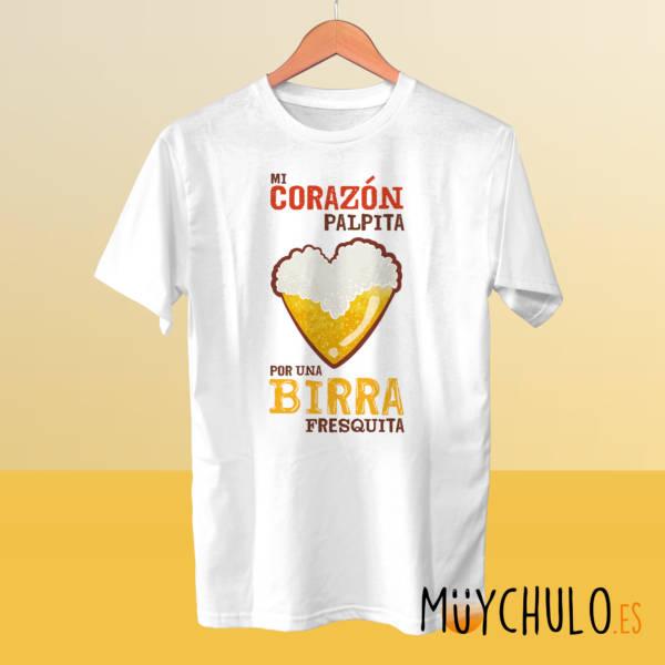 Camiseta Mi corazón palpita por una birra fresquita