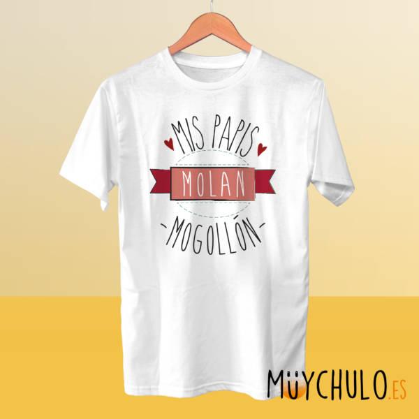Camiseta mis papis molan mogollón