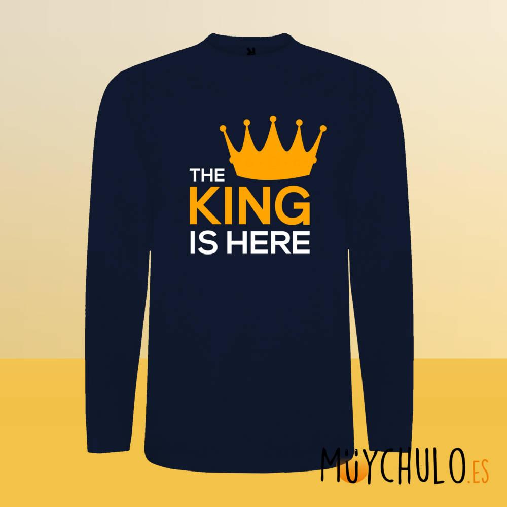Camiseta manga larga The King is Here