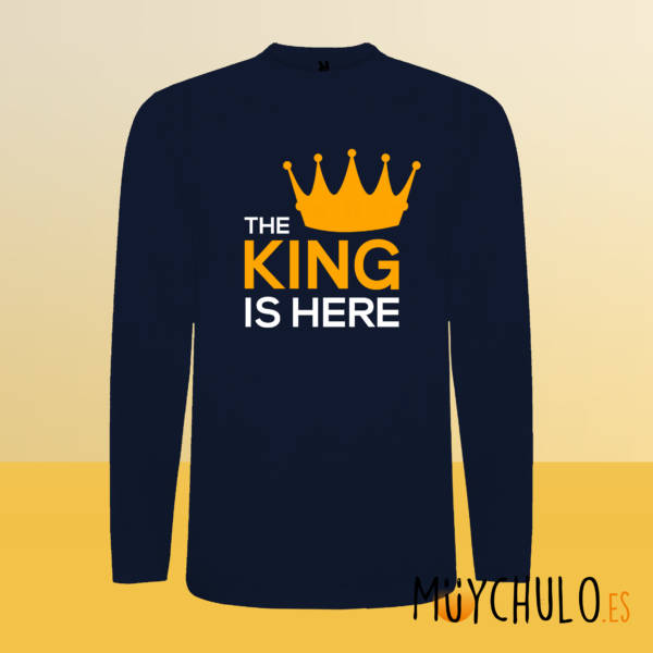 Camiseta manga larga The King is Here