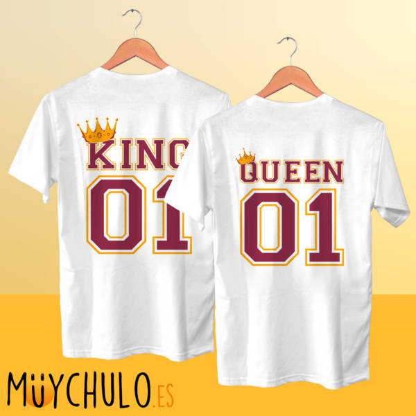 Camisetas manga corta KING & QUEEN