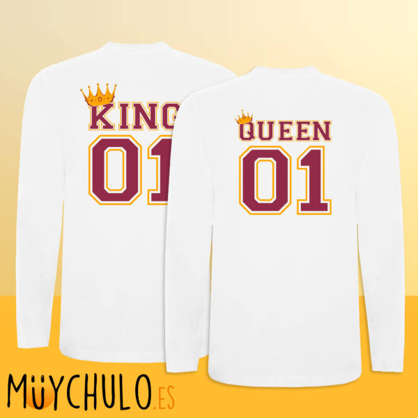Camisetas manga larga KING & QUEEN
