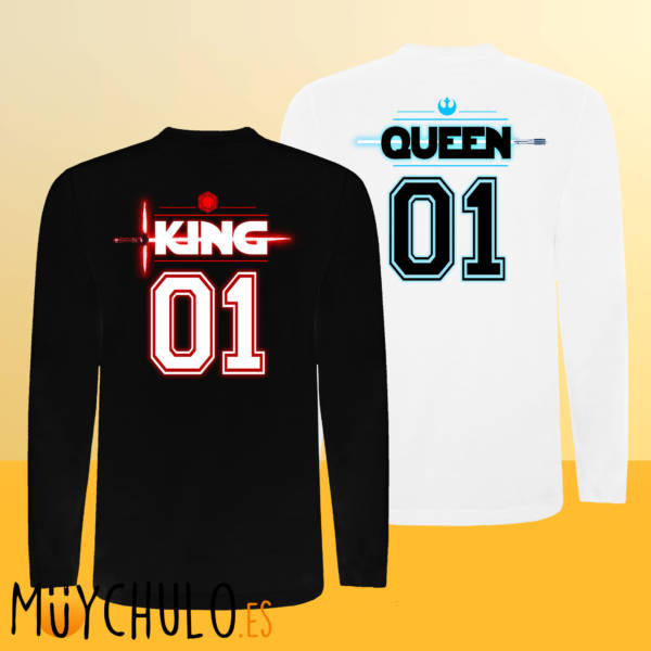 Camisetas manga larga STAR WARS KING & QUEEN