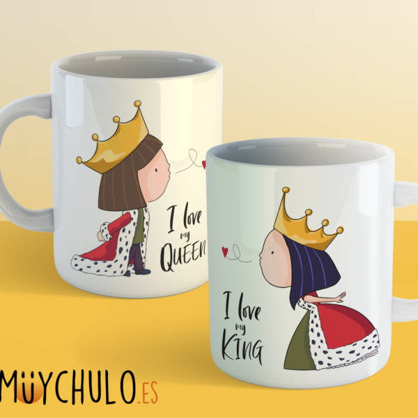 Tazas I Love my KING & I Love my QUEEN