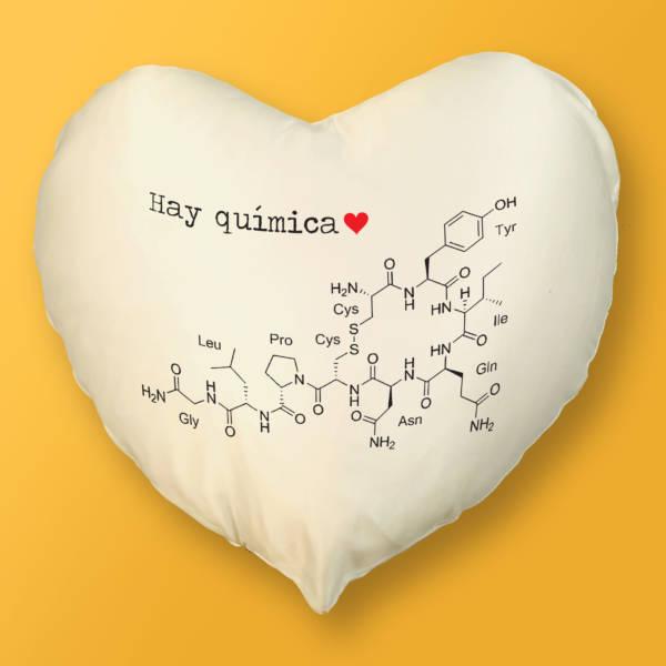 Cojín Corazón Hay Química