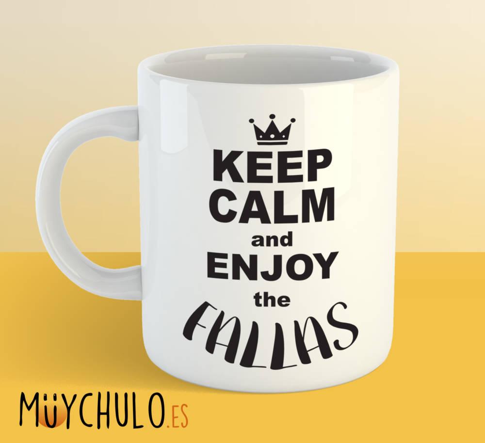 Taza Keep calm and enjoy the fallas