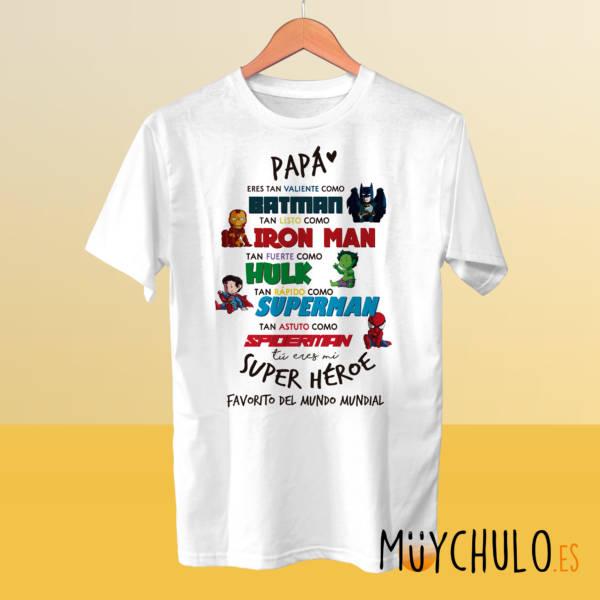 Camiseta Miniheroes DÍA DEL PADRE Vengadores