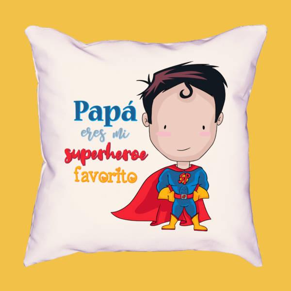 Cojín Papá eres mi superhéroe favorito