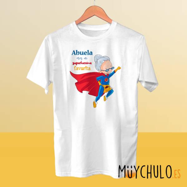 Camiseta Abuela eres mi superheroína favorita