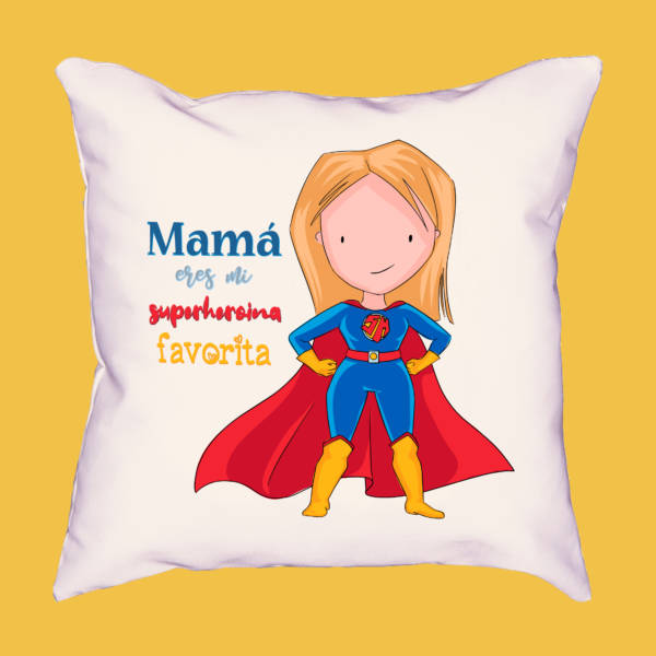 Cojín Mamá eres mi superheroína favorita
