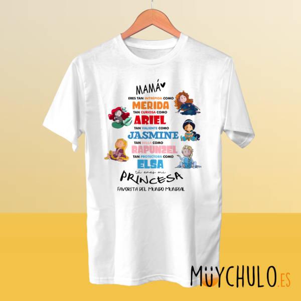 Camiseta princesas Disney DIA DE LA MADRE