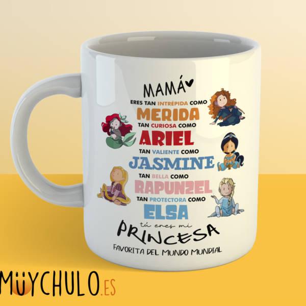 Taza princesas Disney DIA DE LA MADRE