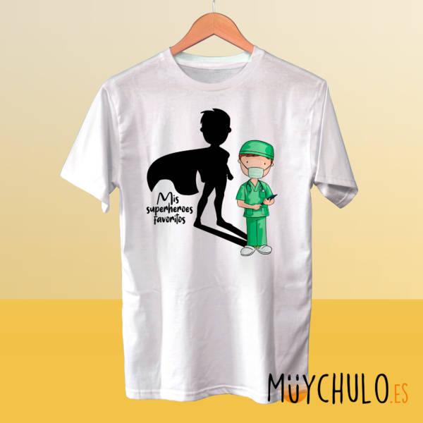 Camiseta ENFERMEROS Mis superheroes favoritos