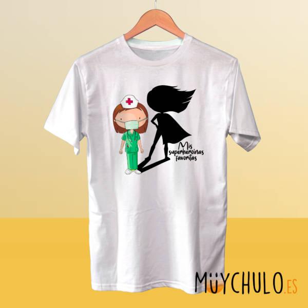 Camiseta ENFERMERAS Mis superheroinas favoritas