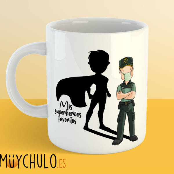 Taza GUARDIA CIVIL Mis superheroes favoritos