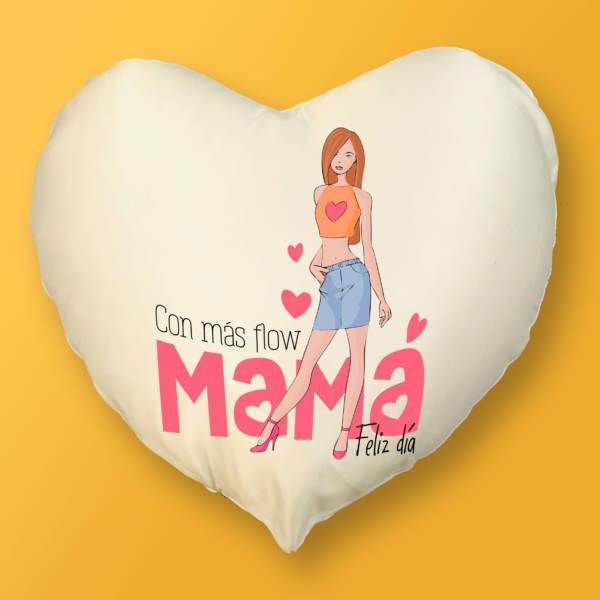 Cojín Corazón Mamá Flow