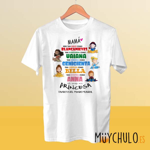 Camiseta princesas Disney DIA DE LA MADRE 2