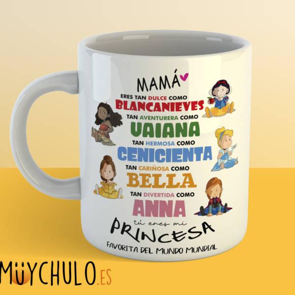 Taza princesas Disney DIA DE LA MADRE 2