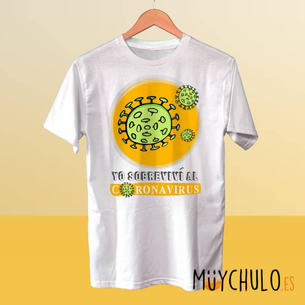 Camiseta Yo sobreviví al coronavirus