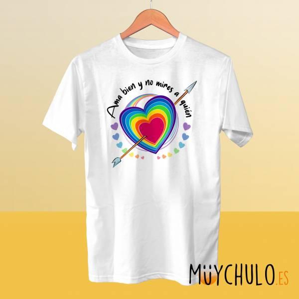 Camiseta Ama bien y no mires a quien