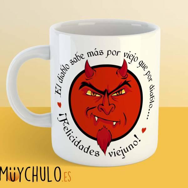 Taza El diablo sabe mas por viejo que por diablo