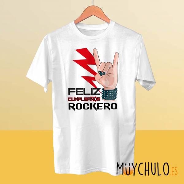 Camiseta Feliz cumpleaños ROCKERO