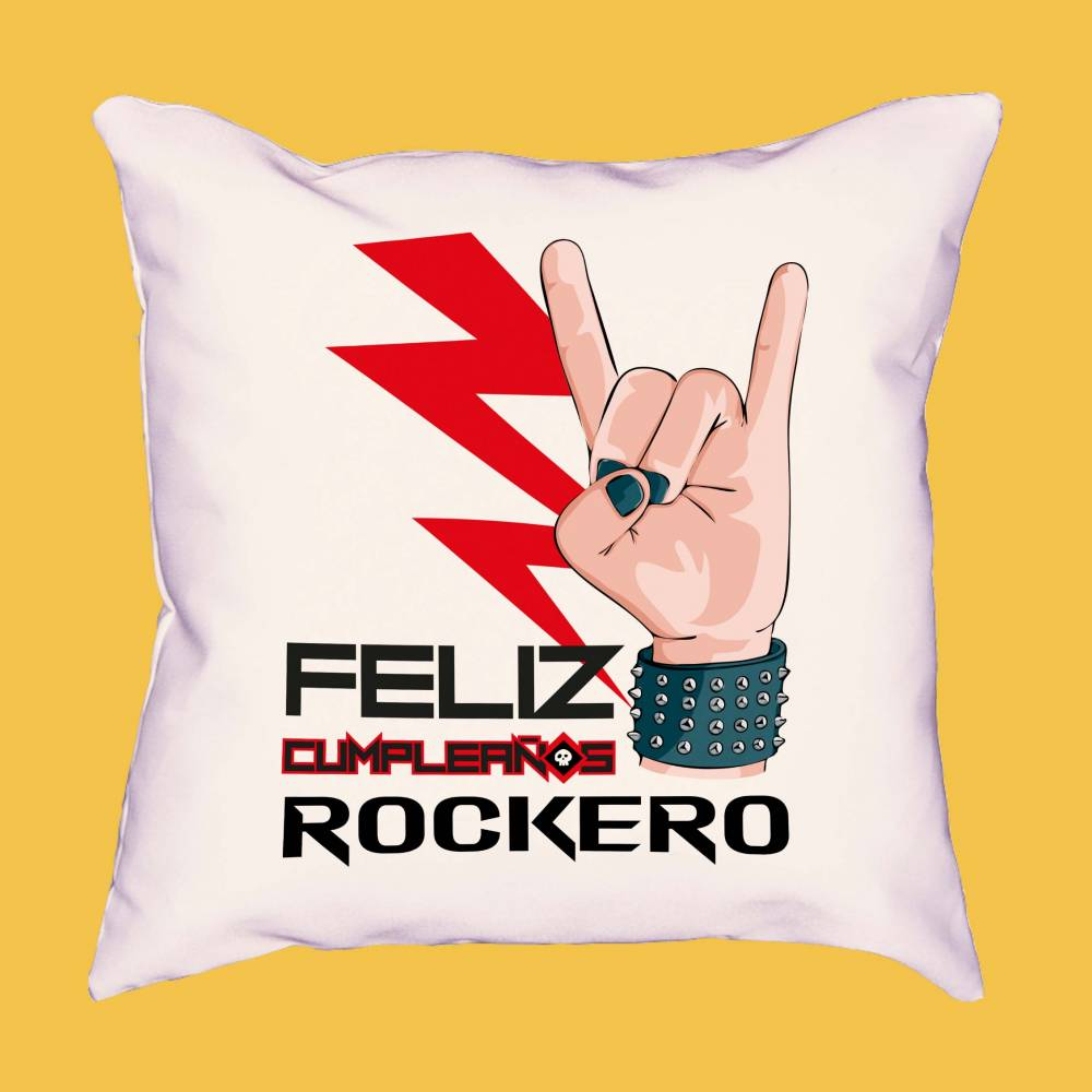 Cojín Feliz cumpleaños ROCKERO