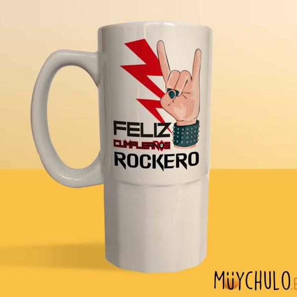 Jarra Feliz cumpleaños ROCKERO