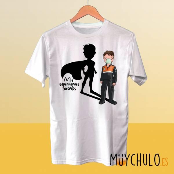 Camiseta PROTECCIÓN CIVIL Mis superheroes favoritos