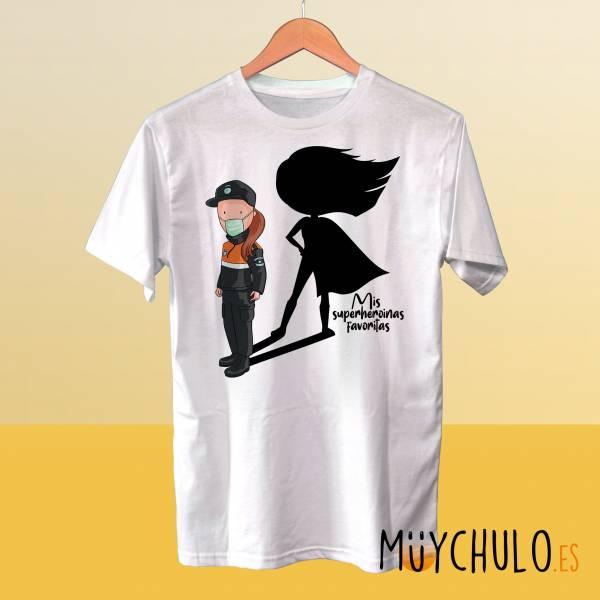 Camiseta PROTECCIÓN CIVIL Mis superheroinas favoritas