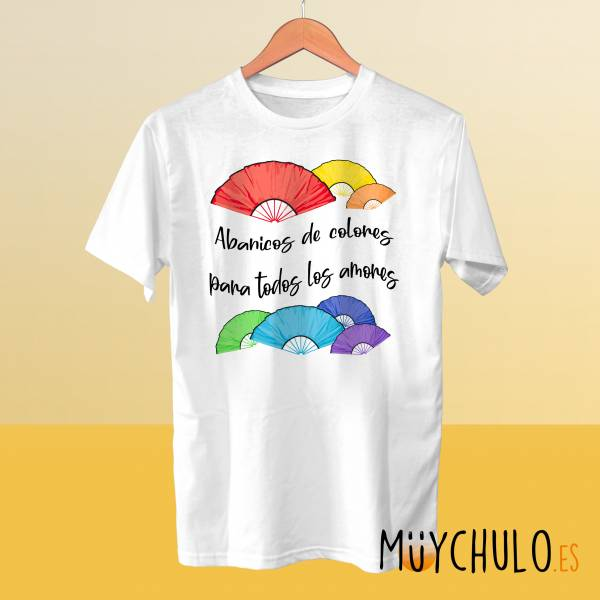 Camiseta Abanicos de colores