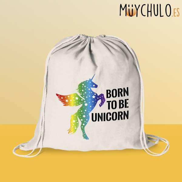 Mochila de cuerdas Born to be Unicorn LGBTIQ+