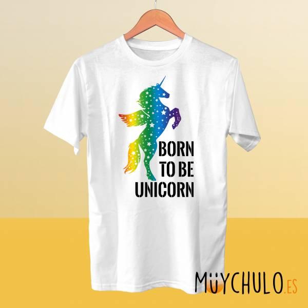 Camiseta Born To Be Unicorn LGBTIQ+