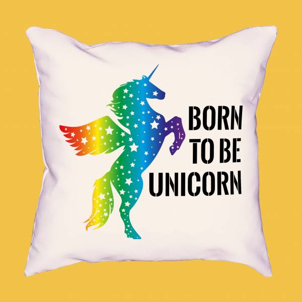 Cojín Born To Be Unicorn LGBTIQ+