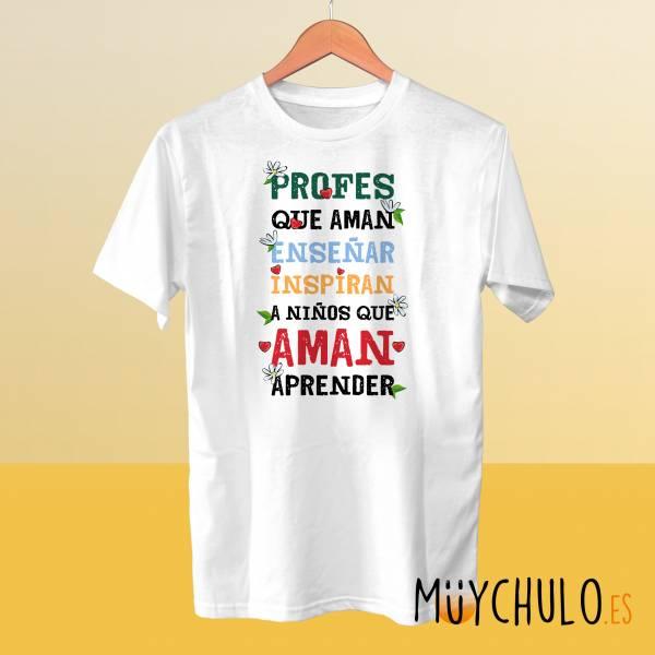 Camiseta Profes que aman enseñar
