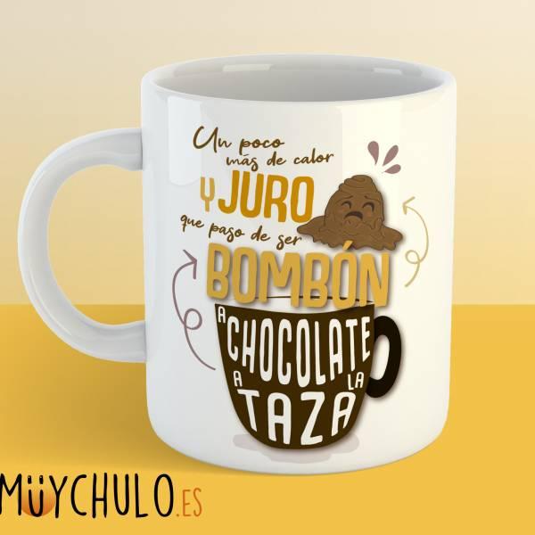 Taza De bombón a chocolate a la taza
