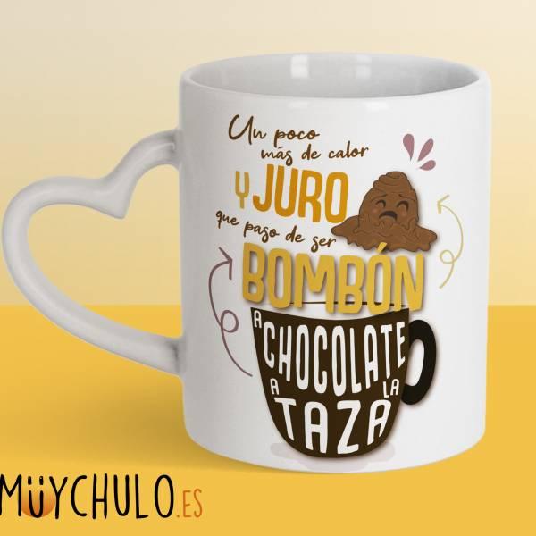 Taza Corazón De bombón a chocolate a la taza