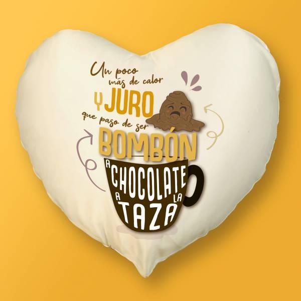 Cojín Corazón De bombón a chocolate a la taza