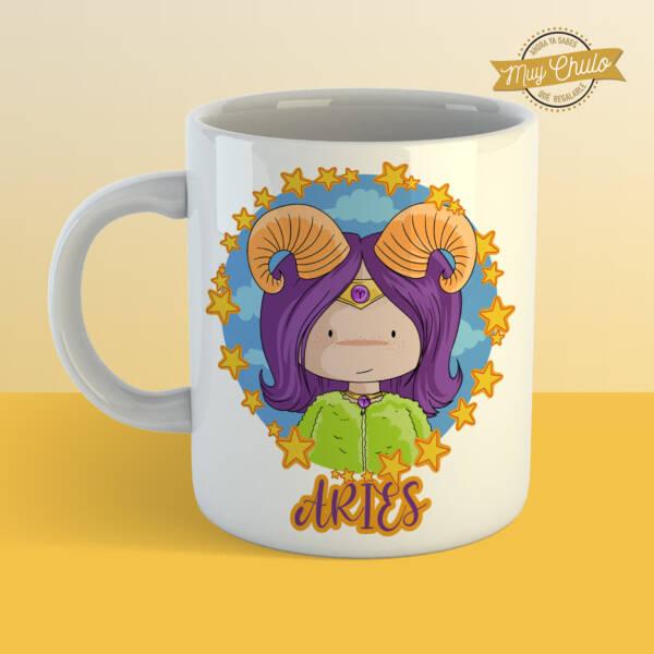 Taza Horóscopo Aries chica