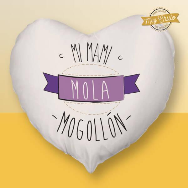 Cojín Corazón Mi mami mola mogollón