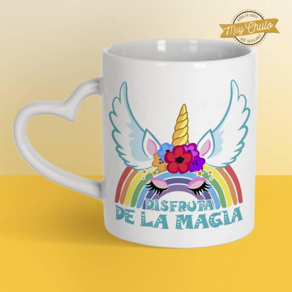 Taza Corazón Unicornio Disfruta de la magia